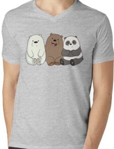 Cute Bare Bear Mens V-Neck T-Shirt