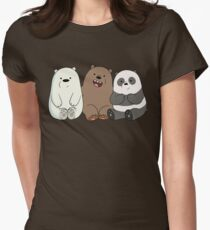 Cute Bare Bear Womens Fitted T-Shirt