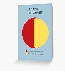 Babybel Pie Chart Greeting Card