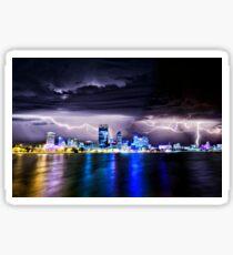 Perth Lightning Storm Sticker