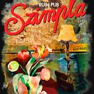 Ruin Pub Szimpla Lounge with Flowers in Budapest by Andrea Beloque