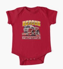 Cartoon Fire Truck Kids Clothes