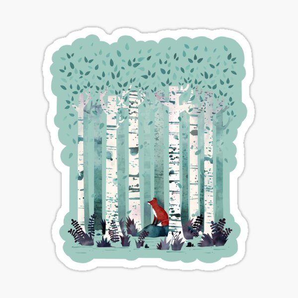 The Birches Sticker