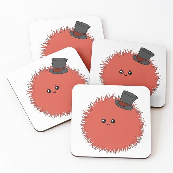 Red Warm Fuzzy Coasters (Set of 4)