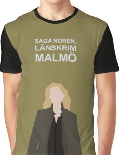Saga Noren / Broen , Bron , The Bridge , / Nordic Noir Graphic T-Shirt