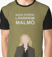 Saga Noren / Broen, Bron, The Bridge, / Nordic Noir Graphic T-Shirt