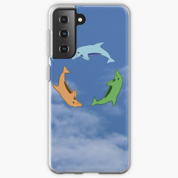 Tricolour Dolphin Circle by Moti for the West Braes Project Samsung Galaxy Soft Case