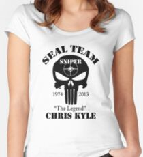 seal team sniper chris kyle Women's Fitted Scoop T-Shirt