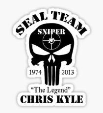 seal team sniper chris kyle Sticker