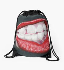 Is She in Mid Thought, or Angry? Drawstring Bag