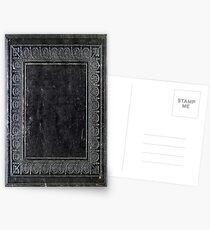 Black Antique Book Postcards