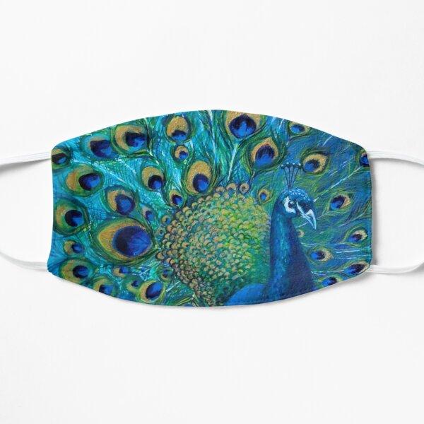 Peacock Blues Flat Mask