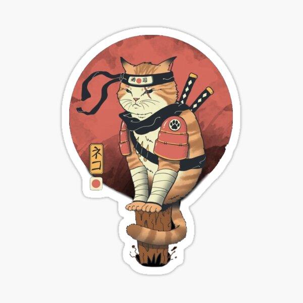 The ninja cat- Japanese retro  Sticker