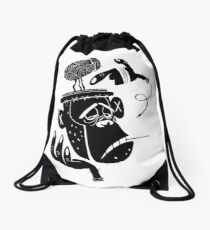 Numb Skull Monkey Drawstring Bag