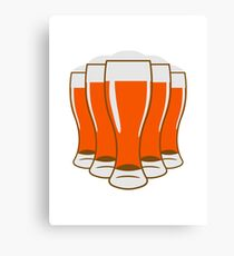 Beer drinking beer glass Canvas Print