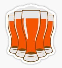 Beer drinking beer glass Sticker