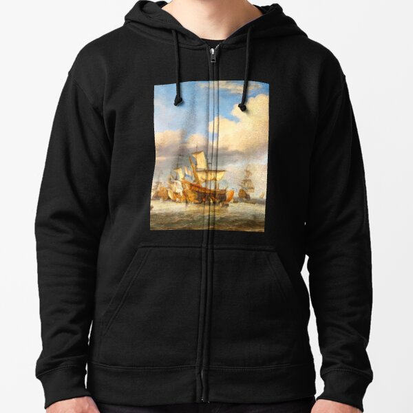 The Four Days' Battle 1666 - the Greatest Sea Fight of the Age of Sail Zipped Hoodie