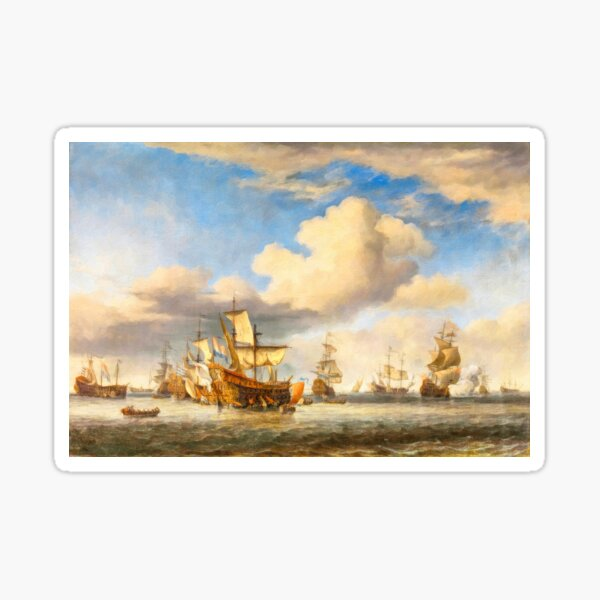 The Four Days' Battle 1666 - the Greatest Sea Fight of the Age of Sail Sticker