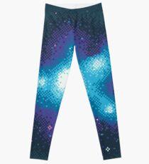 8Bit Galaxien: Kornblumennebel Leggings