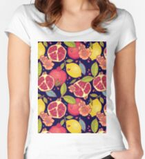 Mysterious tropical garden. Women's Fitted Scoop T-Shirt