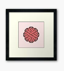 Pink Flower Ribbon Framed Print