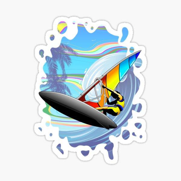 Windsurfer on Ocean Waves Sticker