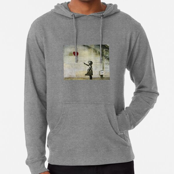 Banksy's Girl with a Red Balloon Lightweight Hoodie