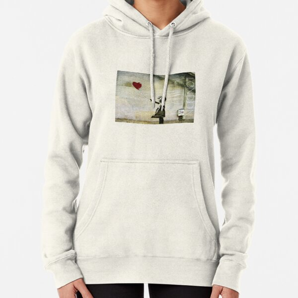 Banksy's Girl with a Red Balloon Pullover Hoodie