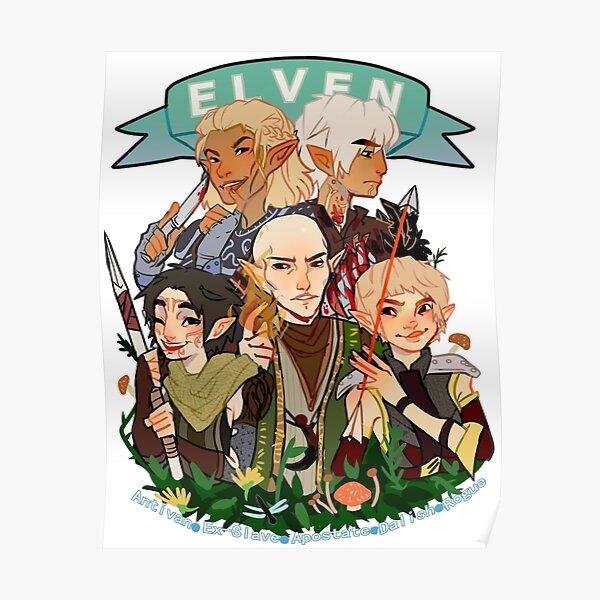 Dragon Age Elves Poster