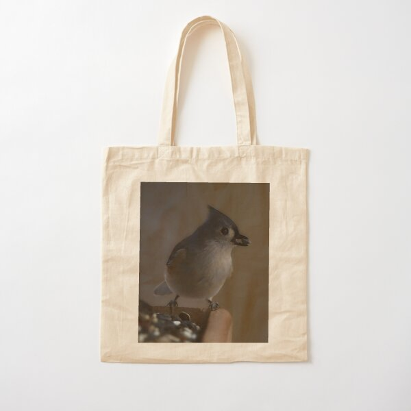 A Tufted Titmouse  Cotton Tote Bag