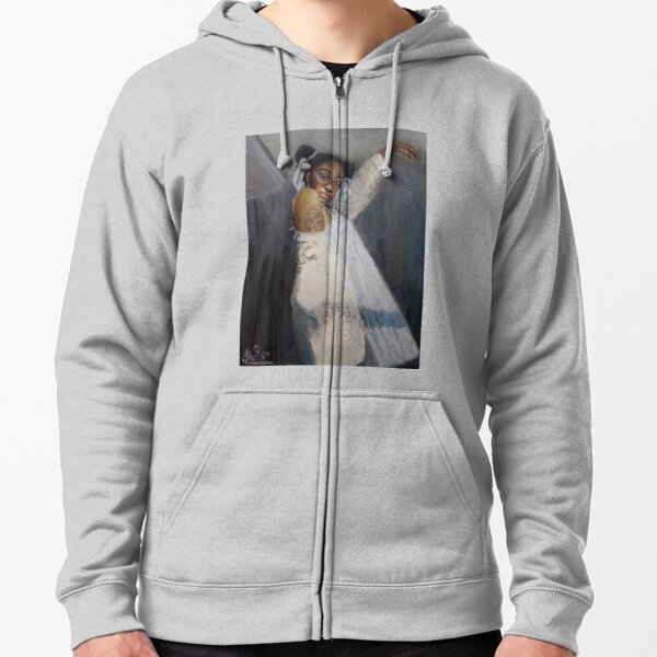 Portrait of a Tiktok Fairy Zipped Hoodie