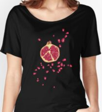 pomegranate pattern Women's Relaxed Fit T-Shirt