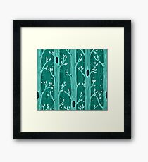 Emerald forest. Seamless pattern with trees Framed Print