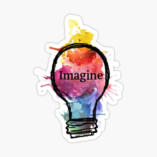 Imagine Lightbulb Sticker