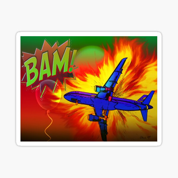 Comic Plane Sticker