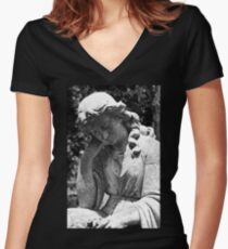 Restful Mourning Women's Fitted V-Neck T-Shirt