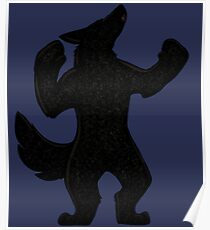 Howling Werewolf Silhouette Poster