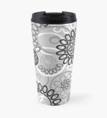 Pattern with black and white elements Travel Mug