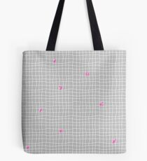 Carreaux - Grey/Pink - Bis Tote Bag