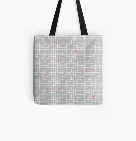 Carreaux - Grey/Pink - Bis Tote bag doublé