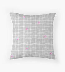Carreaux - Grey/Pink - Bis Throw Pillow