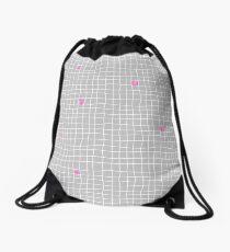 Carreaux - Grey/Pink - Bis Drawstring Bag