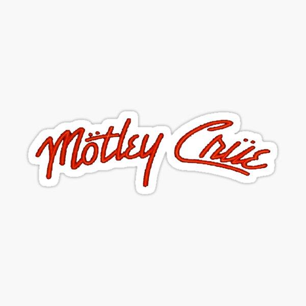 transparant red motley crue best seller Sticker
