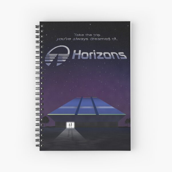 Horizons from EPCOT Center (with Text) Spiral Notebook