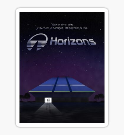 Horizons from EPCOT Center (with Text) Sticker