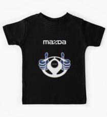 Mazda Eternal Flame Logo Blue Kids Tee