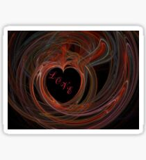 Heart a Flame with LOVE Sticker