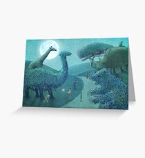 Summer Park - Night Greeting Card