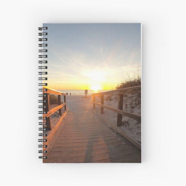 Boardwalk, Beach, Sunset Spiral Notebook