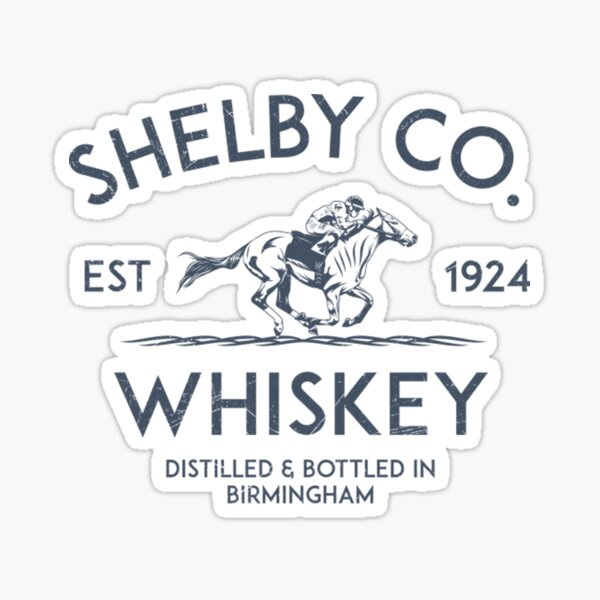 Shelby Co. Whiskey Label Sticker